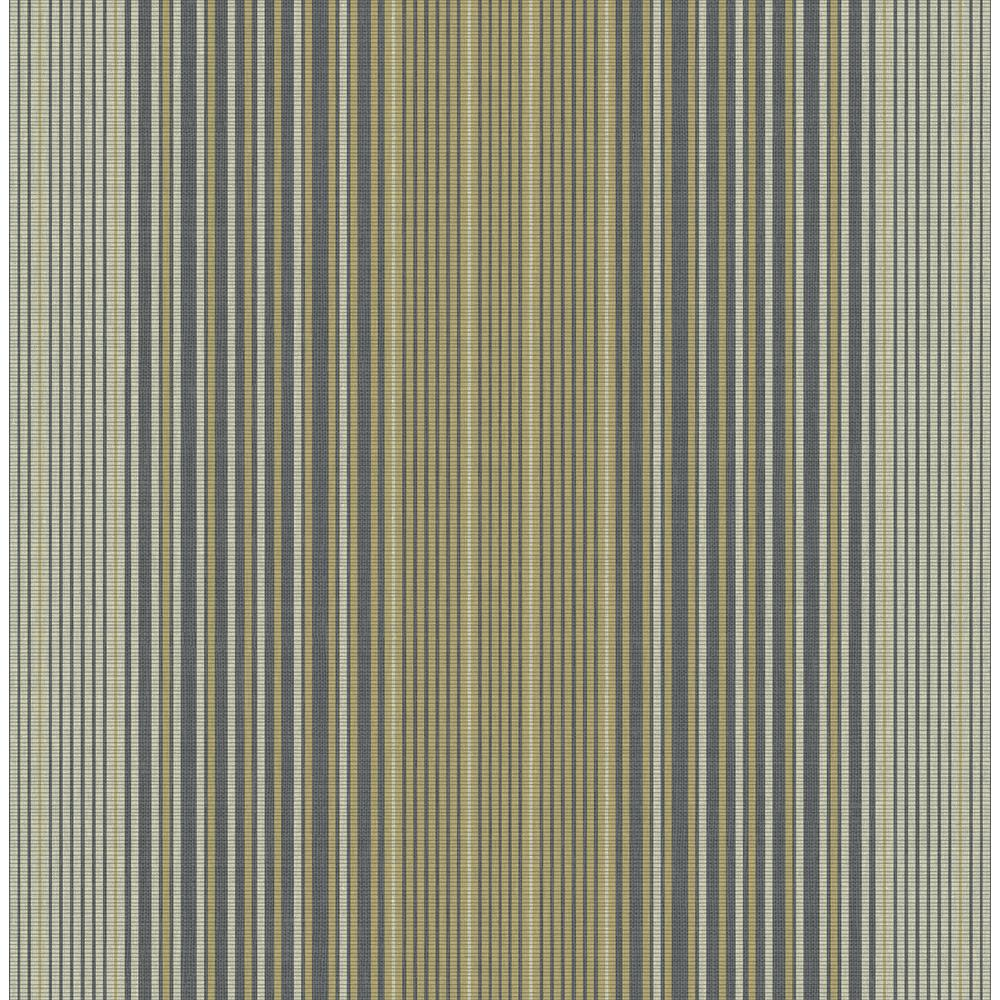 Seabrook Designs Jeannie Metallic Gold and Charcoal Striped Wallpaper RL60500 - The Home Depot