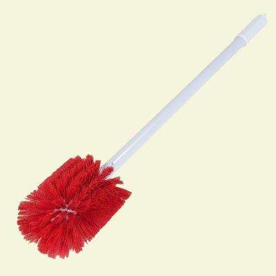 3.5 in. x 5 in. Oval Red Bristle Multi-Purpose Valve and Fitting Brush (Case of 6)
