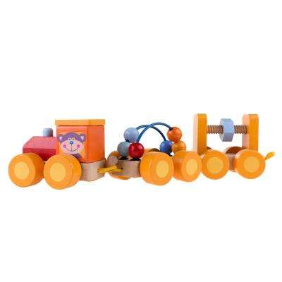 Small Wooden Interactive Learning Train