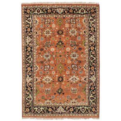 Serapi Heritage Dark Copper 4 ft. x 6 ft. Indoor Area Rug
