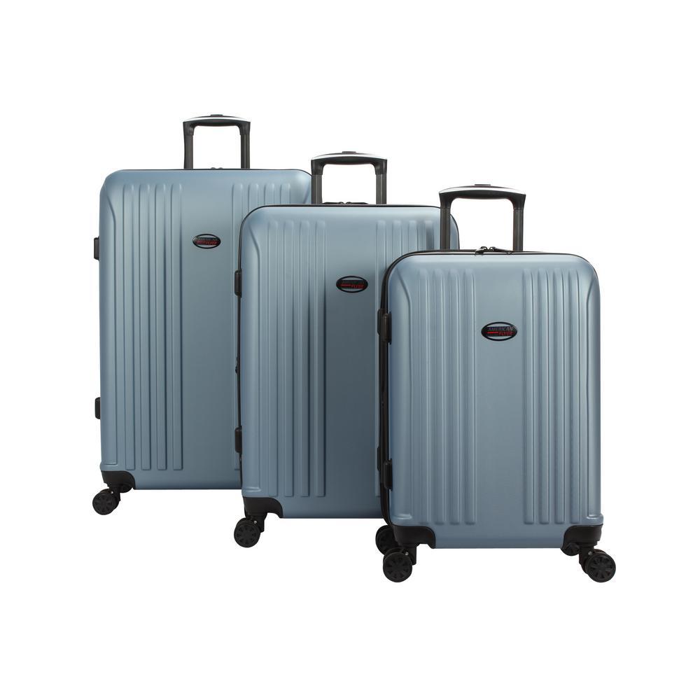 Moraga 3-Piece Dusk Blue Hard Side Spinner Luggage Set