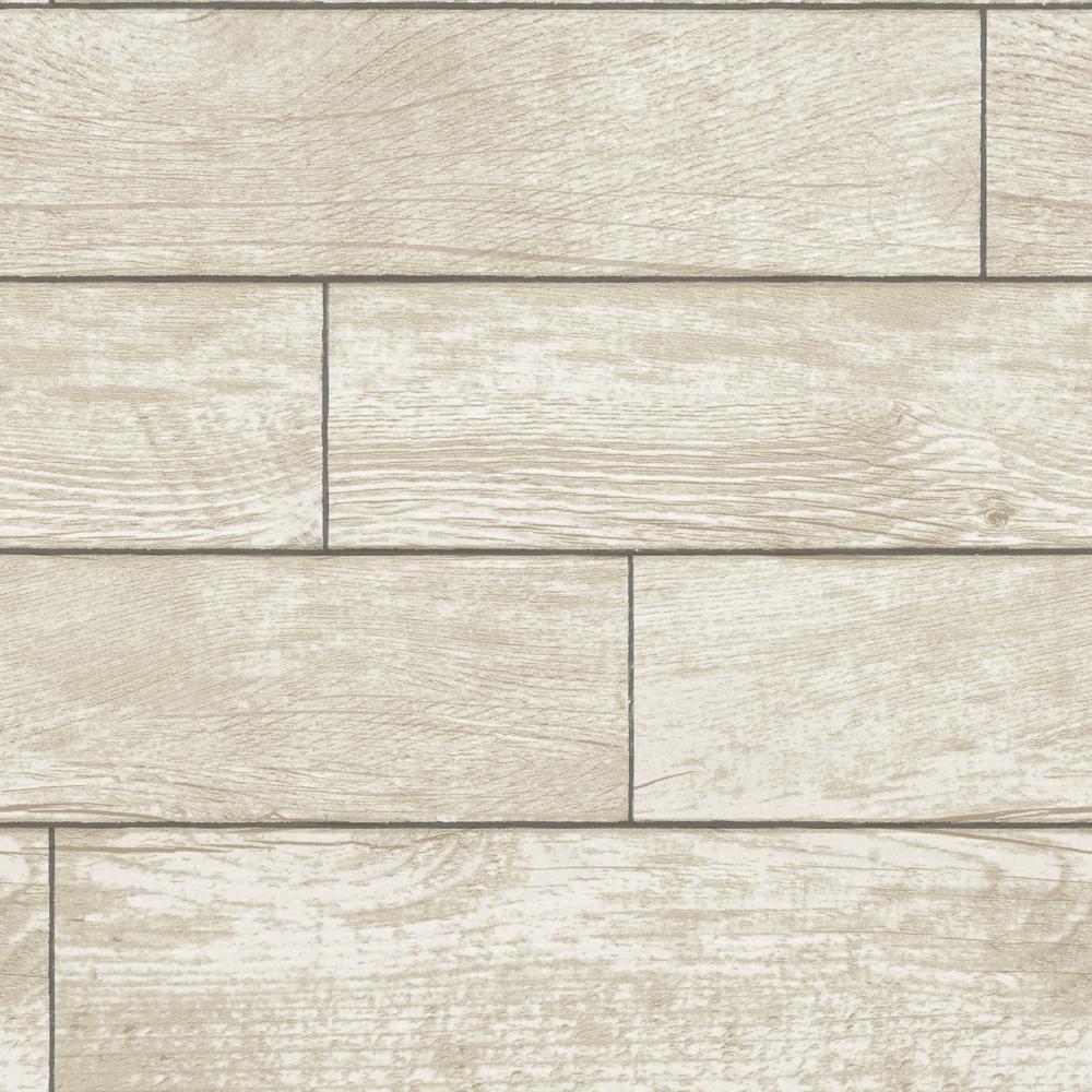 Tempaper Wood Planks Natural Self-Adhesive Removable Wallpaper ...