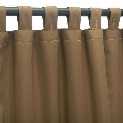 50 in. x 108 in. Outdoor Single Curtain with Tabs in Cocoa