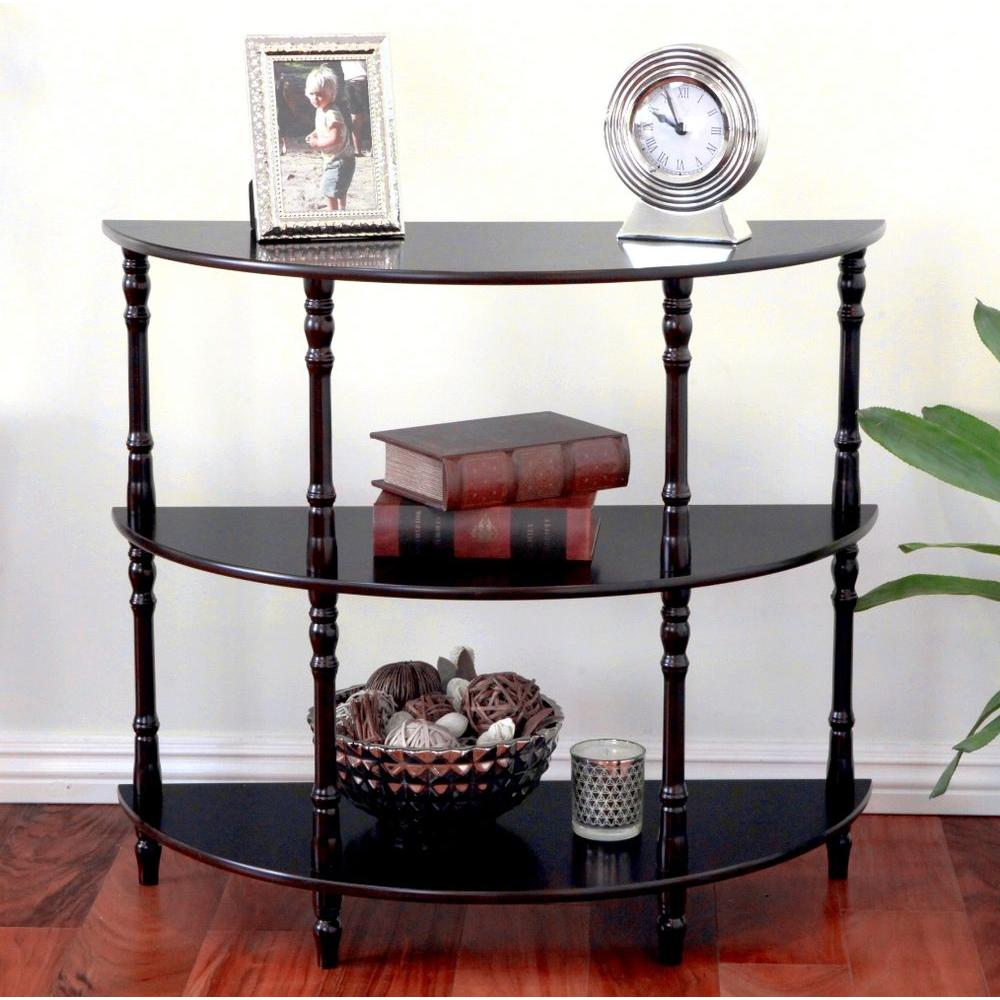 Megahome Espresso Console Table