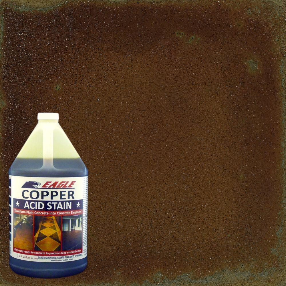 Eagle 1 gal copper interior exterior acid stain edadc for Indoor concrete cleaner