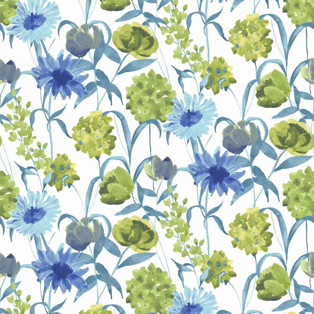 Graham & Brown 56 sq. ft. Summer Bloom Green Wallpaper-DISCONTINUED