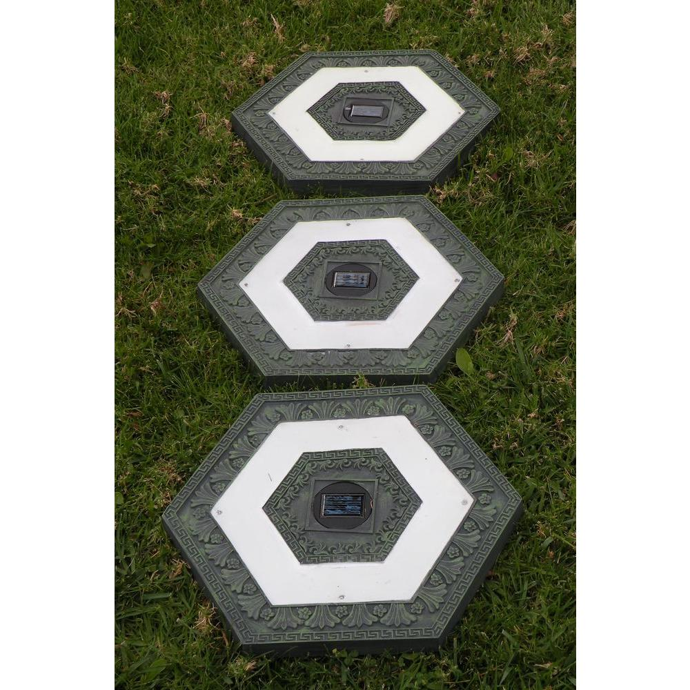 Light Solar Green Outdoor Led Hexagon