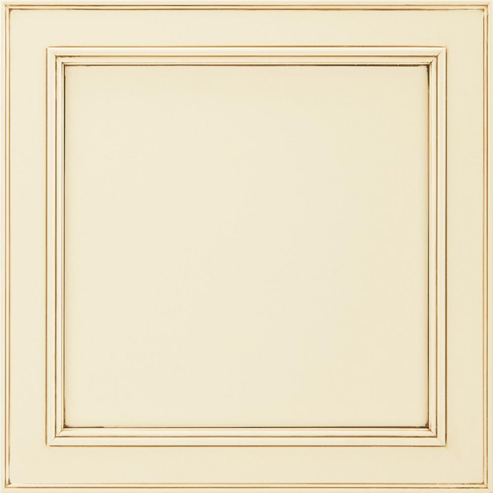 14-9/16x14-1/2 in. Cabinet Door Sample in Brookland Painted Hazelnut Glaze