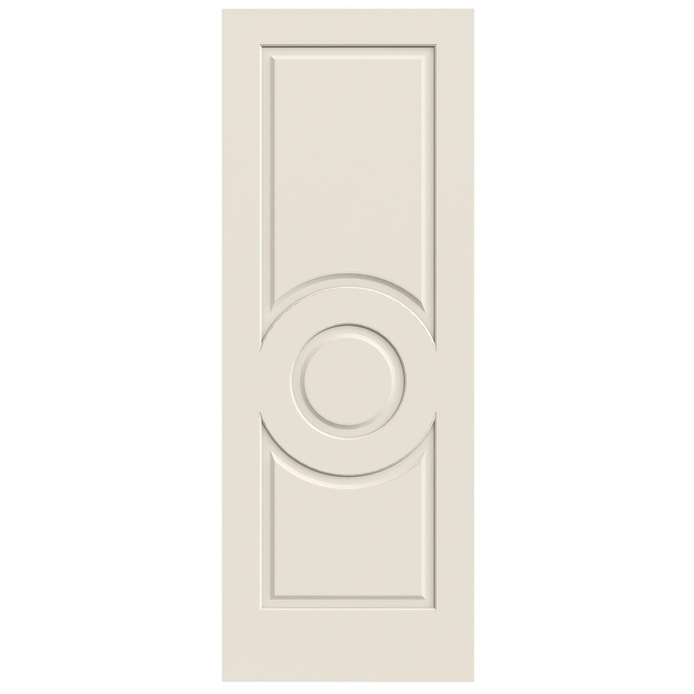 Jeld wen 24 in x 80 in primed c3140 3 panel solid core premium composite interior door slab for Solid core interior doors soundproof