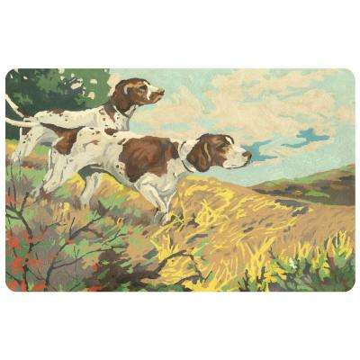 Comfort Painted Pointers 22 in. x 31 in. Pet Mat