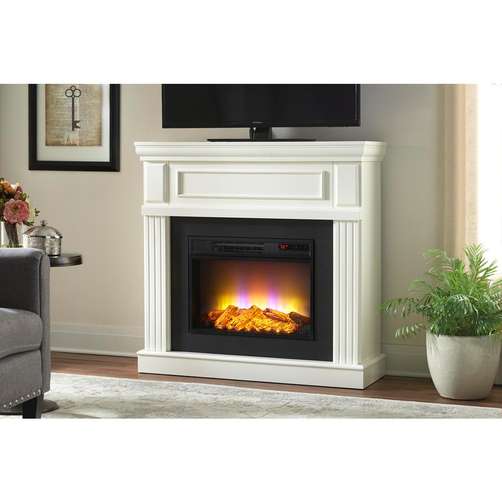 Electric Fireplace Heaters Home Depot: Home Decorators Collection Grantley 40 In. Freestanding