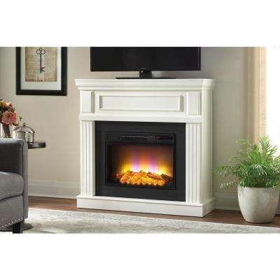 Freestanding Electric Fireplace In White