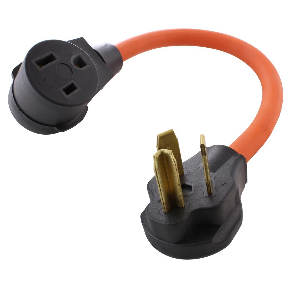 Ac Works 10 3 Stw 1 5 Ft Welder Adapter Cord 3 Prong 10 30p Dryer Plug To 6 50r Welder Outlet Wd1030650 018 The Home Depot