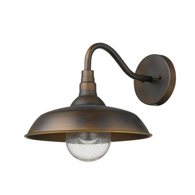 Burry 1-Light Oil-Rubbed Bronze Outdoor Wall Sconce