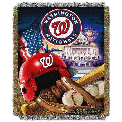 Nationals Multi Color Home Field Advantage Tapestry Throw