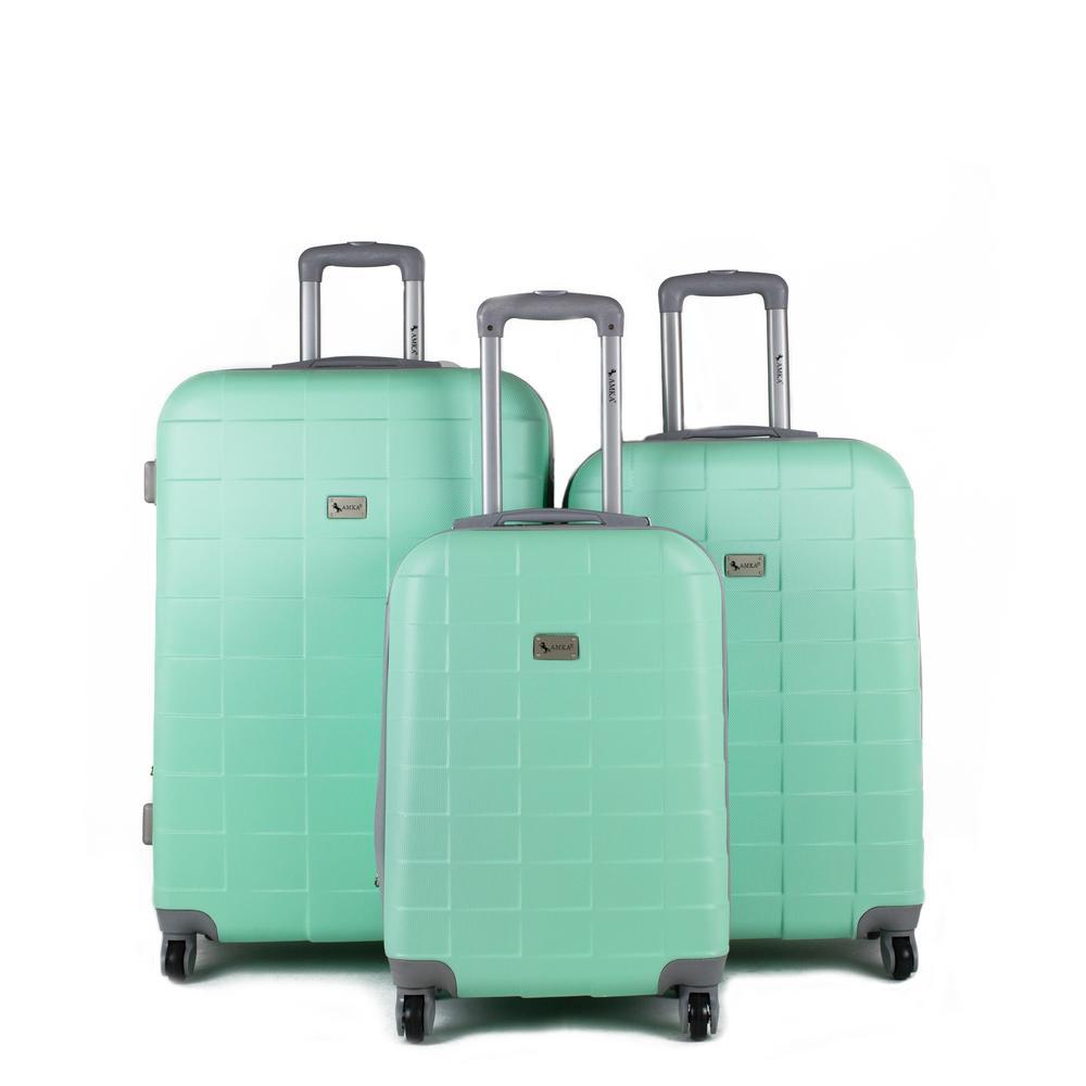 Palette Mint 3-Piece Expandable Hardside Spinner Luggage Set