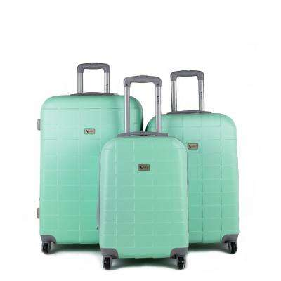 Palette Mint 3-Piece Expandable Hardside Spinner Luggage Set