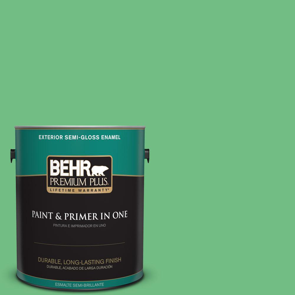 1-gal. #P400-5 Winter Shamrock Semi-Gloss Enamel Exterior Paint