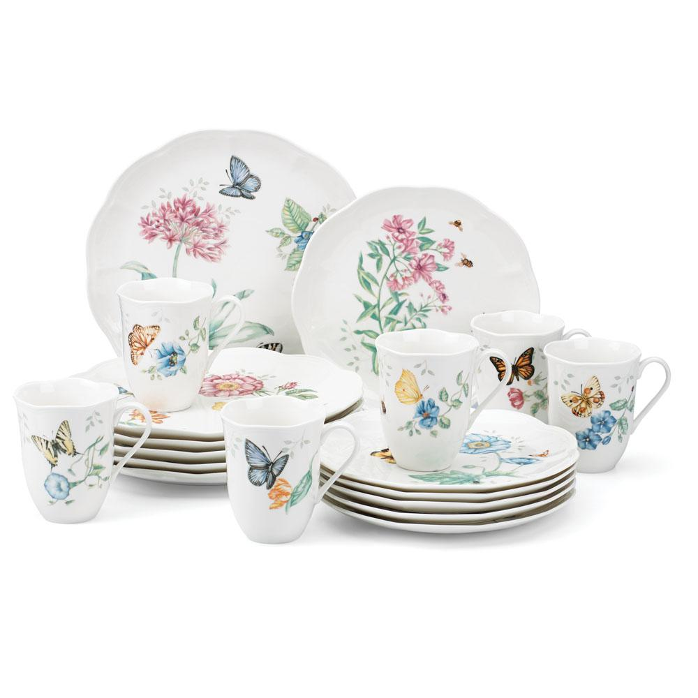 Lenox 18-Piece Butterfly Meadow Dinnerware Set  sc 1 st  The Home Depot & Lenox 18-Piece Butterfly Meadow Dinnerware Set-6342794 - The Home Depot