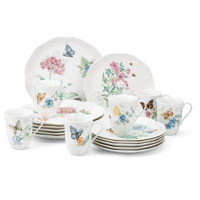 18-Piece Butterfly Meadow Dinnerware Set