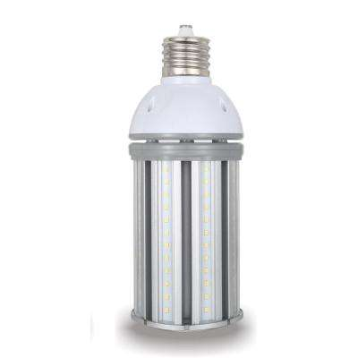 150-Watt Equivalent 36-Watt Corn Cob ED28 HID LED Post Top Bypass Light Bulb Mog 120-277-Volt Cool White 4000K