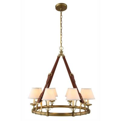 Cascade 8-Light Burnished Brass Pendant Lamp