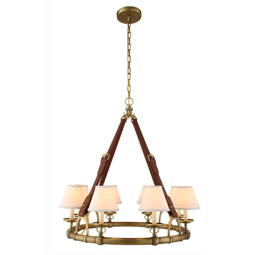 Cascade 8-Light Burnished Brass Pendant Lamp