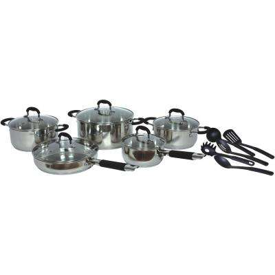 15-Piece Stainless Steel Cookware Set with Lids