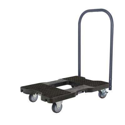 1,200 lbs. Capacity Professional E-Track Push Cart Dolly in Black
