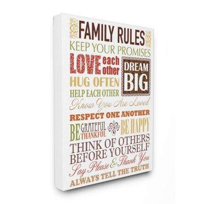 "16 in. x 20 in. ""Family Rules Autumn Colors"" by Irina Urteaga Printed Canvas Wall Art"