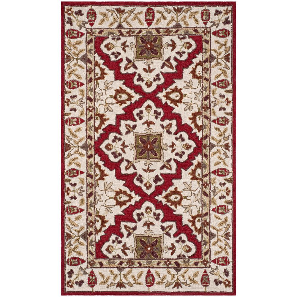 Safavieh easy care ivory 3 ft x 5 ft area rug ezc721a 3 for Easy rugs
