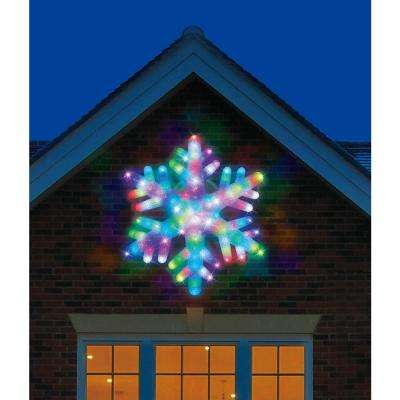 24 in. Color Blast Remote Controlled RGB LED 84-Light Giant Snowflake