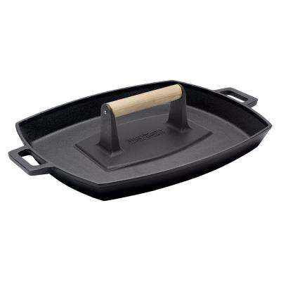 12 in. x 14 in. Cast-Iron Shallow Pan with Bacon Press