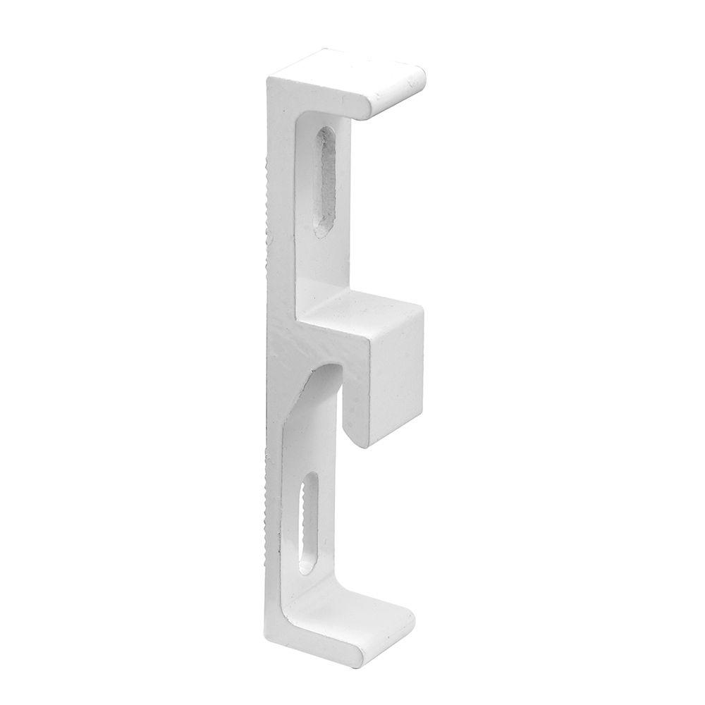 Prime Line White Extruded Aluminum Sliding Door Keeper