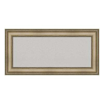 Mezzanine Antique Silver Narrow Framed Grey Cork Memo Board