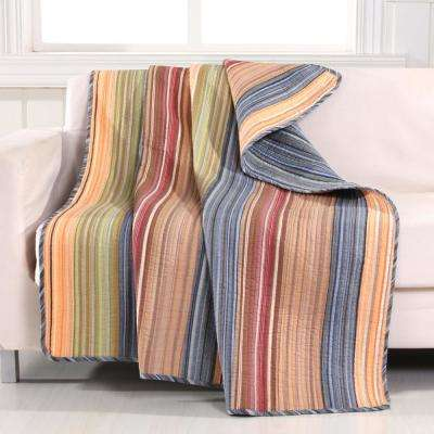 Katy Multi Quilted Cotton Throw