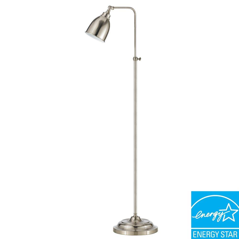 CAL Lighting 62 in. Brushed Steel Metal Adjustable Pharmacy Floor Lamp
