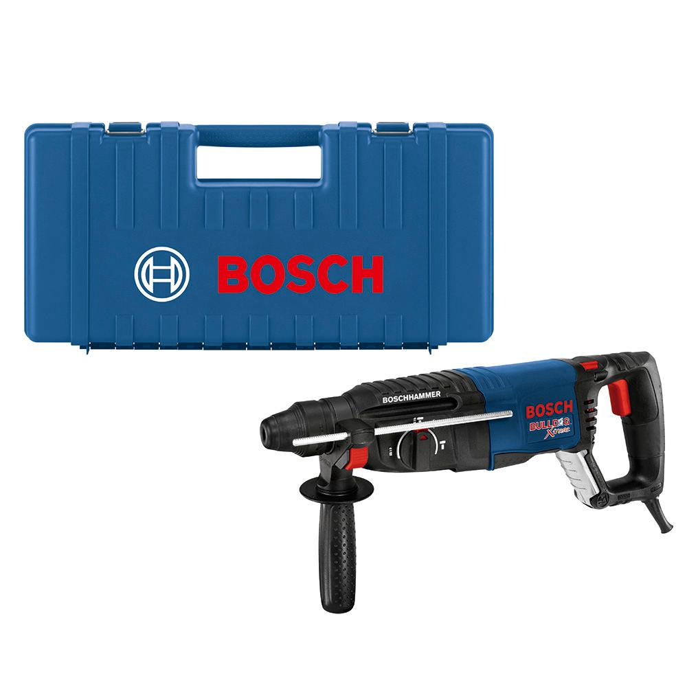 Bosch Bosch Bulldog Xtreme 8 Amp 1 in. Corded Variable Speed SDS-Plus Concrete/Masonry Rotary Hammer Drill with Carrying Case