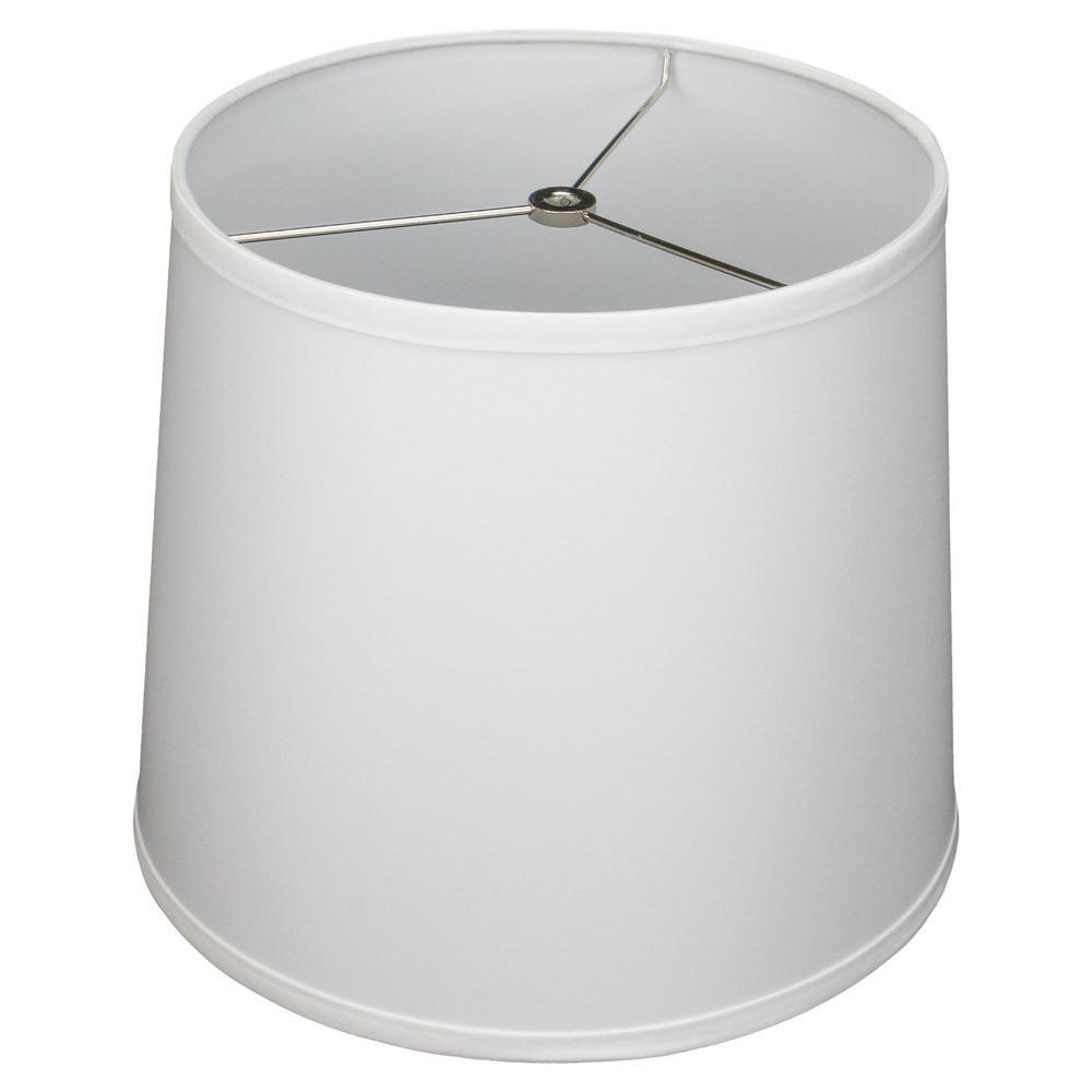 11 in. Top Diameter x 13 in. Bottom Diameter x 11 in. Slant, Designer Chintz White Empire Lamp Shade