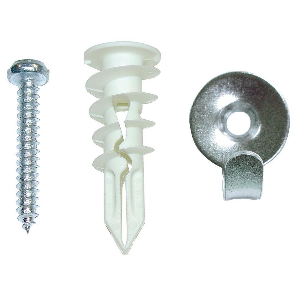 OOK Snap Skru 75 lb. Steel Utility Hooks with Togglers (2-Pack)