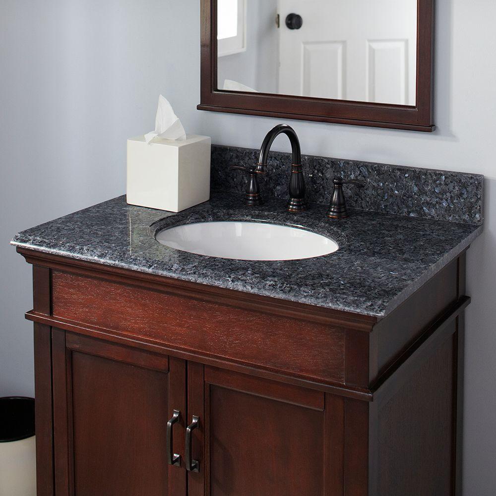 Granite Vanity Top In Blue Pearl