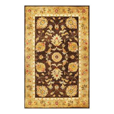 Fashion Mahal Mocha/Gold 3 ft. x 5 ft. Area Rug
