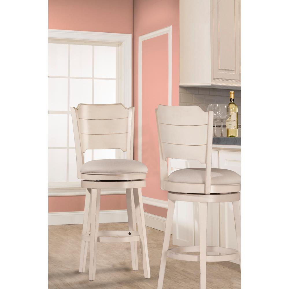 Clarion Sea White Swivel Counter Stool