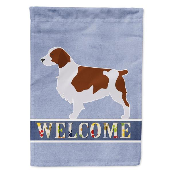Caroline S Treasures 28 In X 40 In Polyester Welsh Springer Spaniel Welcome Flag Canvas House Size 2 Sided Heavyweight Bb5504chf The Home Depot