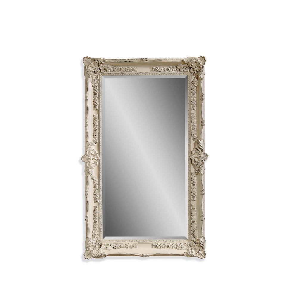 BASSETT MIRROR COMPANY Garland Decorative Wall Mirror Exquisitely detailed in a draped floral pattern, our Garland wall mirror is opulence defined. The distressed finish lends an heirloom look and the feel of ragality. This piece is ideal for any space in need of royal decor.