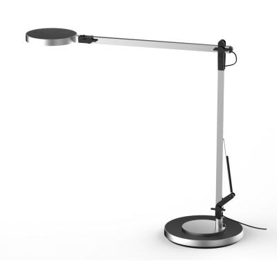 17.5 in. Silver Integrated LED Table Lamp with Adjustable Brightness