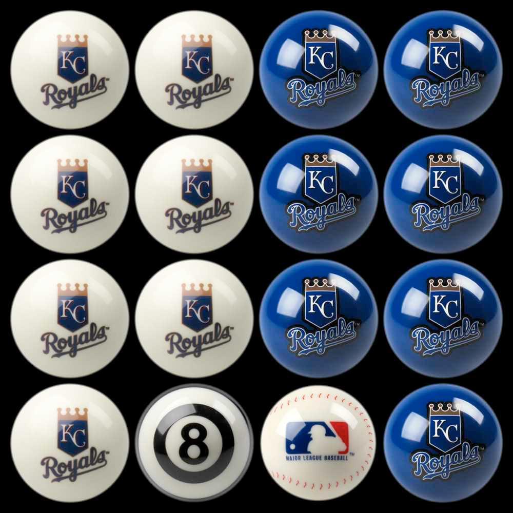 Kansas City Royals Home Vs Away Billiard Ball Full Set of