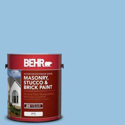 1 gal. #M520-3 Charismatic Sky Satin Interior/Exterior Masonry, Stucco and Brick Paint