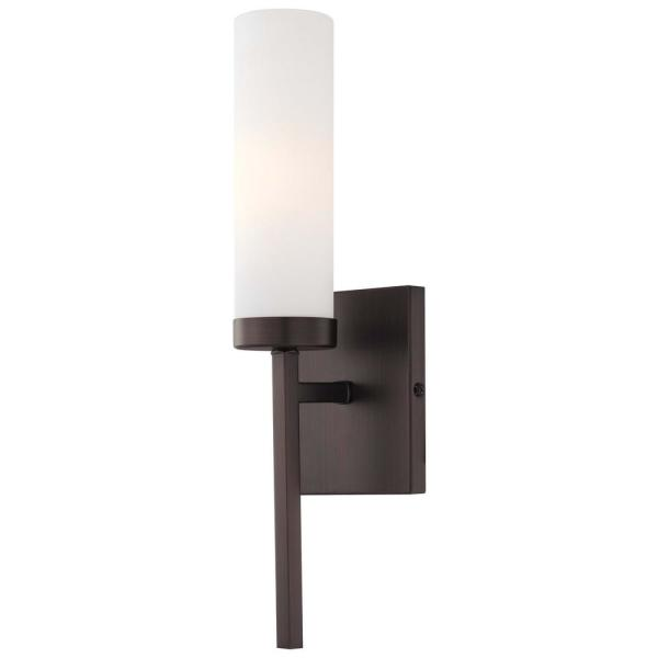 1-Light Copper Bronze Patina Wall Sconce