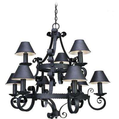 Kingston 9-Light Antique Iron Interior Chandelier